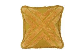 18x18 Throw Pillow Cover: Golden Fringe