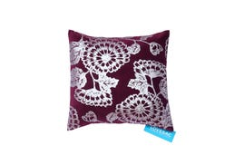 Throw Pillow Cover: Burgundy Floral