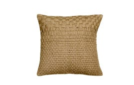 24x24 Throw Pillow Cover: Jute Tape Weave