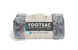 Room for Two Footsac Blanket: Charcoal Wombat Phur