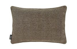 24x16 Throw Pillow Cover: Brown Chenille/Tan Tweed