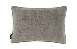 24x16 Throw Pillow Cover: Grey Chenille/Grey Tweed