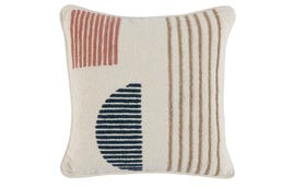 Throw Pillow Cover: Terracotta Pattern 18x18