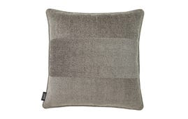 24x24 Throw Pillow Cover: Grey Chenille/Grey Tweed