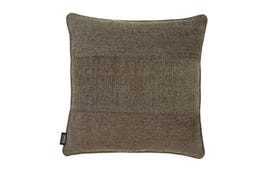 24x24 Throw Pillow Cover: Brown Chenille/Tan Tweed