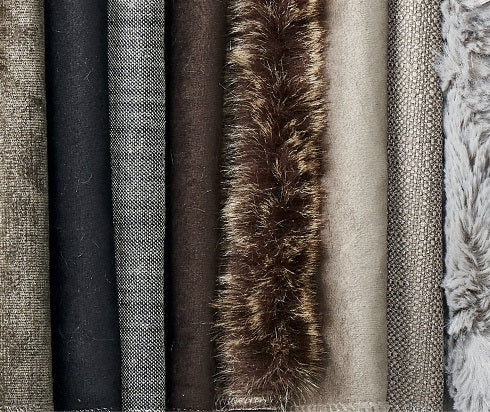 Various types of fabrics.