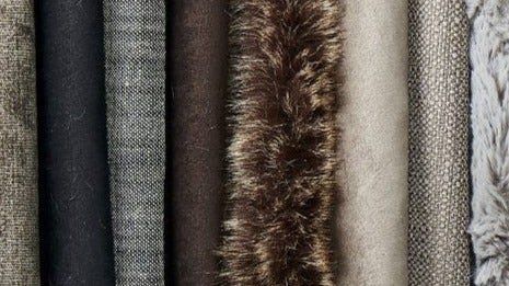 Image with various fabric samples.